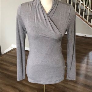 Long sleeved taupe top